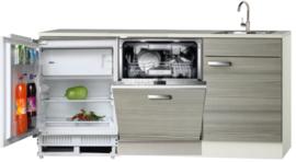 Keukenblok 180cm incl vaatwasser en inbouw koelkast RAI-3738