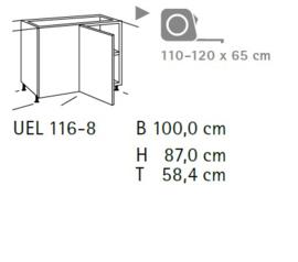 Komfort hoekonderkast UEL116-8