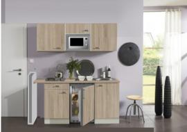 Kitchenette Padua 150cm met 4-pit elektrisch kookplaat, magnetron, onderbouw koelkast HRG-4499