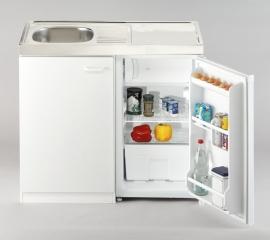 Keukenblok wit met aanrecht 100cm x 60cm met koelkast RAI-5261