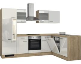 L-Keuken Valero wit 280 x 170 cm incl. Inbouwapparatuur HRG-7564