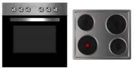 Inbouwset Oven + Elektrisch kookveld HRG-7856