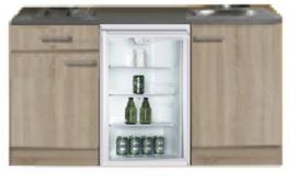 keukenblok 150cm Padua met glazen koelkast RAI-4440