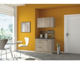 Keukenblok neapel 100cm licht eiken incl. Inbouwapparatuur HRG-240