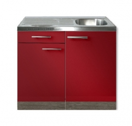 Keukenblok Imola Rood met La 100 x 60 cm HRG-3104