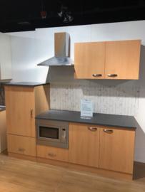Showmodel keukenblok Beuken 220cm