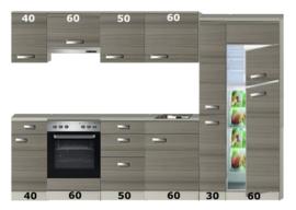 Rechte keuken 270cm incl apparatuur RAI-320