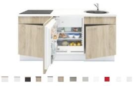 3-in-1 Keukenblok 180 x 60 cm incl. kookplaat + koelkast + spoelbak RAI-301