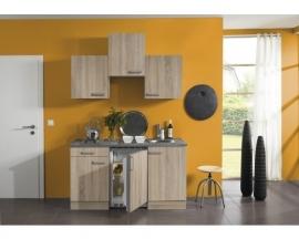 Kitchenette Naepel licht eiken  150cm Incl. Inbouwapparatuur HRG-0398