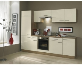 Keuken Bilbao 270 cm creme Incl. Inbouwapparatuur OPTI-1249