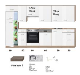 Rechte keuken 330cm incl inbouw apparatuur RAI-745