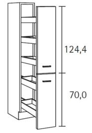 Apothekerskast 30 x 206cm hoog HFZ306-9