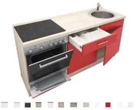 3-in-1 Kitchenette + oven + kookplaat + spoelbak 180 cm RAI-799