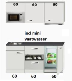 kitchenette 180cm incl mini vaatwasser, combi magnetron en koelkast RAI-444