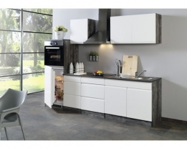 Greeploze keuken meubilair Hero Cardiff White 270cm incl. inbouwapparatuur HRG-1499