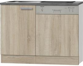 Wastafel kabinet Napels acacia-Decor (BxHxD) 110,0x84,8x1,6 cm HRG-0145