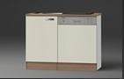 Keukenblok Cream met RVS aanrecht 100cm x 60cm OPTI-64