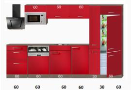 Rechte keuken 330cm incl inbouw apparatuur RAI-3388