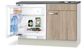 Keukenblok 120cm Antraciet incl koelkast RAI-591