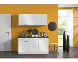 Kitchenette Lagos wit Hoogglans 150 cm incl. e-kookplaat HRG-0389