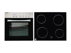 2-in-1 Keukenblok 120 cm x 60 cm Incl. oven + kookplaat + bergruimte zonder spoelbak RAI-1599