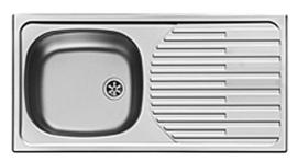 RVS Inbouw aanrechtblad met spoelbak 860 x 435 mm RAI-30