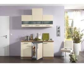 Kitchenette Bilbao 150 cm  créme Incl. Inbouwapparatuur OPTI-690