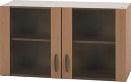 Bovenkast Klassiek 50 Beuken met glas,  100cm x 32 cm O500-6-OPTI-37