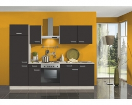 Keuken Faro Antraciet 270cm Incl. Inbouwapparatuur OPTI-1199