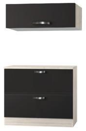 Buffetkast met bovenkast Faro Antraciet 100 x 60 cm OPTI-0303