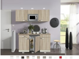 Kitchenette Padua 150cm met kookplaat, magnetron, onderbouw koelkast HRG-4499