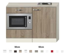 Keukenblok 120cm Houtnerf met magnetron RAI-510