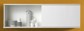 Wandkast met schuif rek Wit 150cm x 44cm RAI-4562