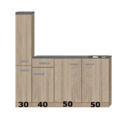 Kitchenette Wit 180 cm Incl. Inbouwapparatuur HRG-5569