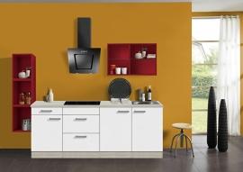 Keuken 210 cm met gekleurd wandrek Incl. Inbouwapparatuur   KT242E-9-634
