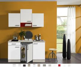 Kitchenette Zamora Wit 150 cm Incl. keramische kookplaat en rvs spoelbak KT159-9-543