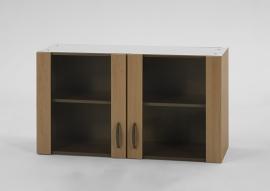 Bovenkast Beuken met glas, 100cm x 32 cm Beuken OPTI-426