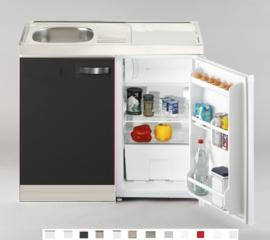 Keukenblok Faro met aanrecht 100cm x 60cm Incl. koelkast en RVS blad RAI-5265