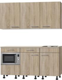 kitchenette 180 met stelpoten, een la en combimagnetron RAI-3118