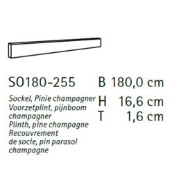Komfort plint SO180-255
