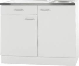 Keukenblok Klassiek 50 + RVS aanrecht 100cm x 50cm met een la OPTI-66