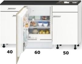 kitchenette 150cm met stelpoten en inbouw koelkast RAI-888