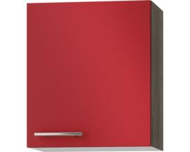 Wandkast Imola signaal rood satijn (BxHxD) 50,0x57,6x34,6 cm OPTI-52