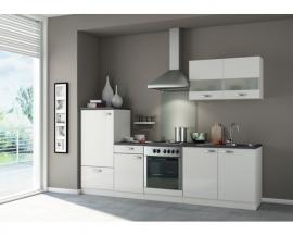 Keuken Lagos 270 cm wit hoogglans incl. Inbouwapparatuur OPTI-125