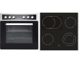 CombiOven + keramische kookplaat set BIC8 2KB-GK-IX-2H RAI-442