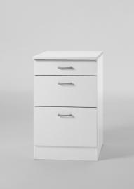 Onderkast Wit met 3 uittreklade, 40 cm x 84,5 cm OPTI-553