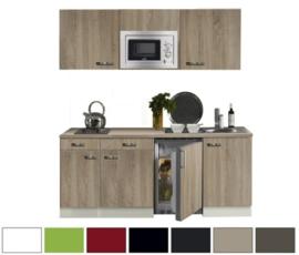 keukenblok 180 met inbouw koelkast, magnetron en 2-pit elektrisch kookplaat RAI-330