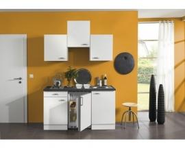 Keukenblok Lagos wit hoogglans 150 cm incl.apparatuur RAI-449