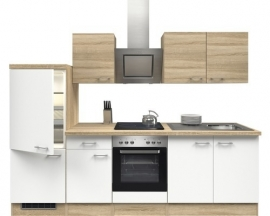 Keuken Samoa wit 270cm incl inbouw apparatuur HRG-999