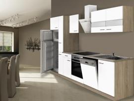 Keuken hoogglans wit 310cm incl. Inbouwapparatuur HUS-1428